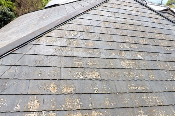 劣化した コロニアル屋根